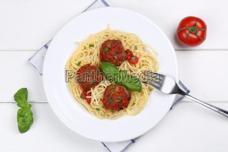spaghetti with meatballs noodles pasta dish