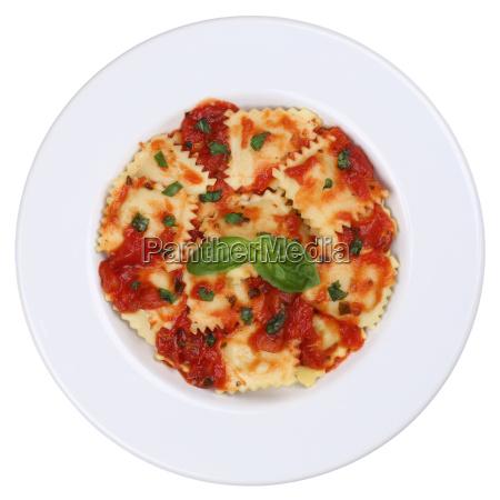 italian pasta ravioli pasta dish with