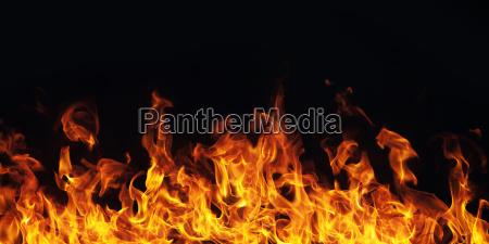 brennen feuer flamme auf schwarzem hintergrund