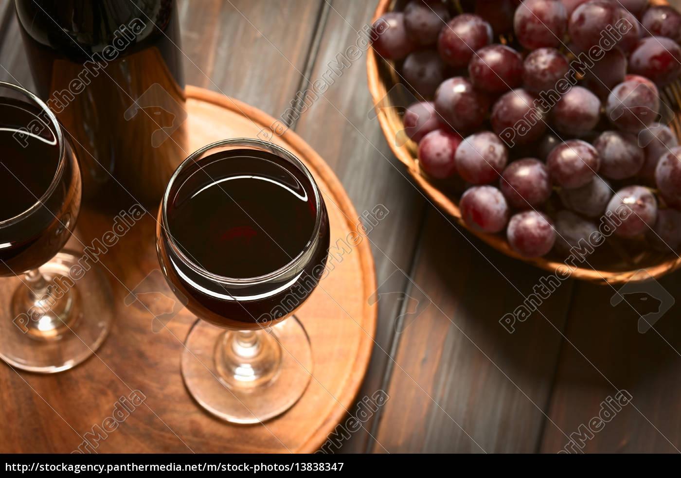 rotwein, und, trauben - 13838347