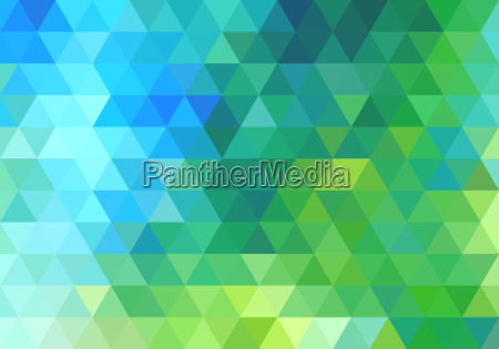 abstract green blue triangle background