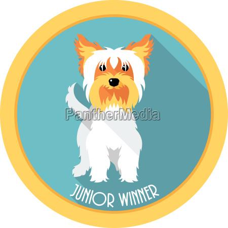 hund junior gewinner medaille symbol flaches