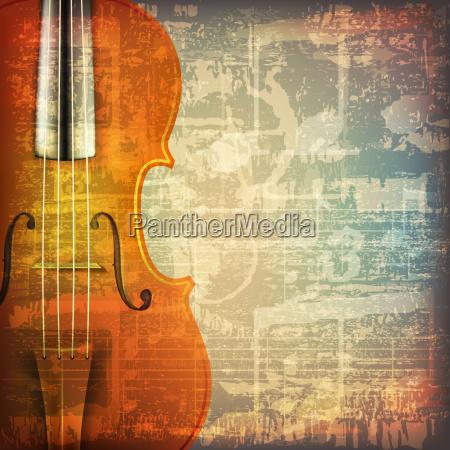 abstrakte grunge musik hintergrund mit violine