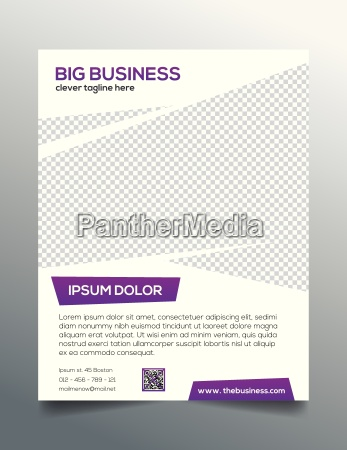 clean modern business flyer template in