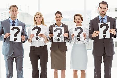 business leute die fragezeichen zeichen