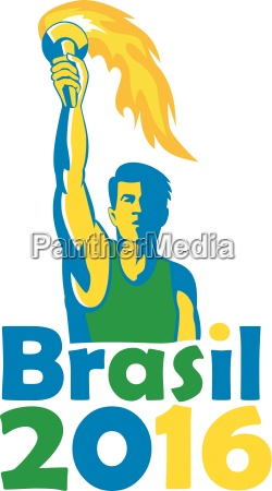 brasil 2016 summer games athleten torch