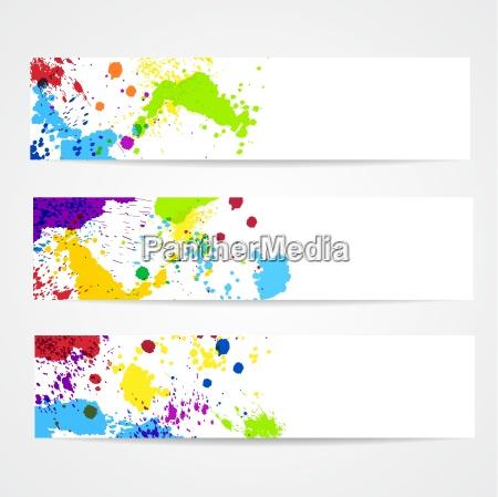 aquarell splash banner