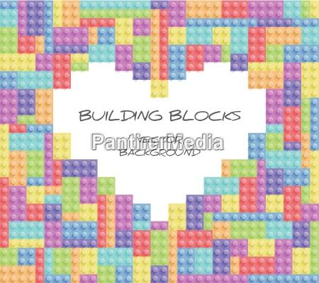 building blocks vector background