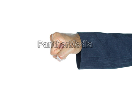 businessman fist or punching isolated on