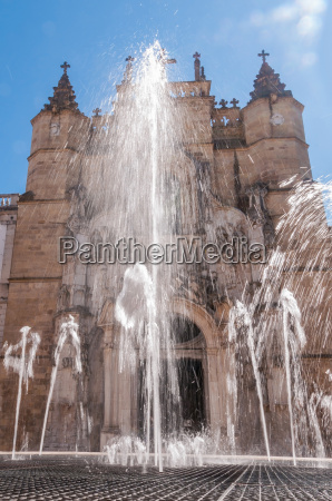 main facade of santa cruz monastery