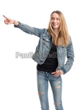 girl holds a presentation