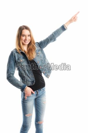 teenager, hält, eine, präsentation - 13867731