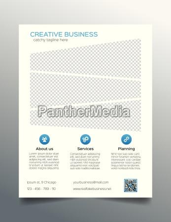 business flyer template sleek corporate