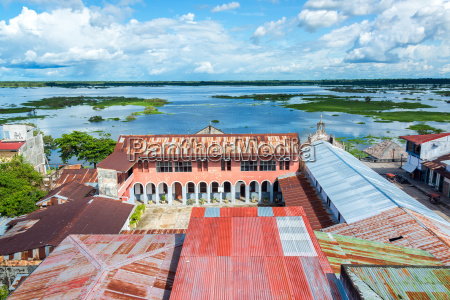 iquitos city and river view