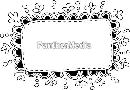 hand made doodle frame