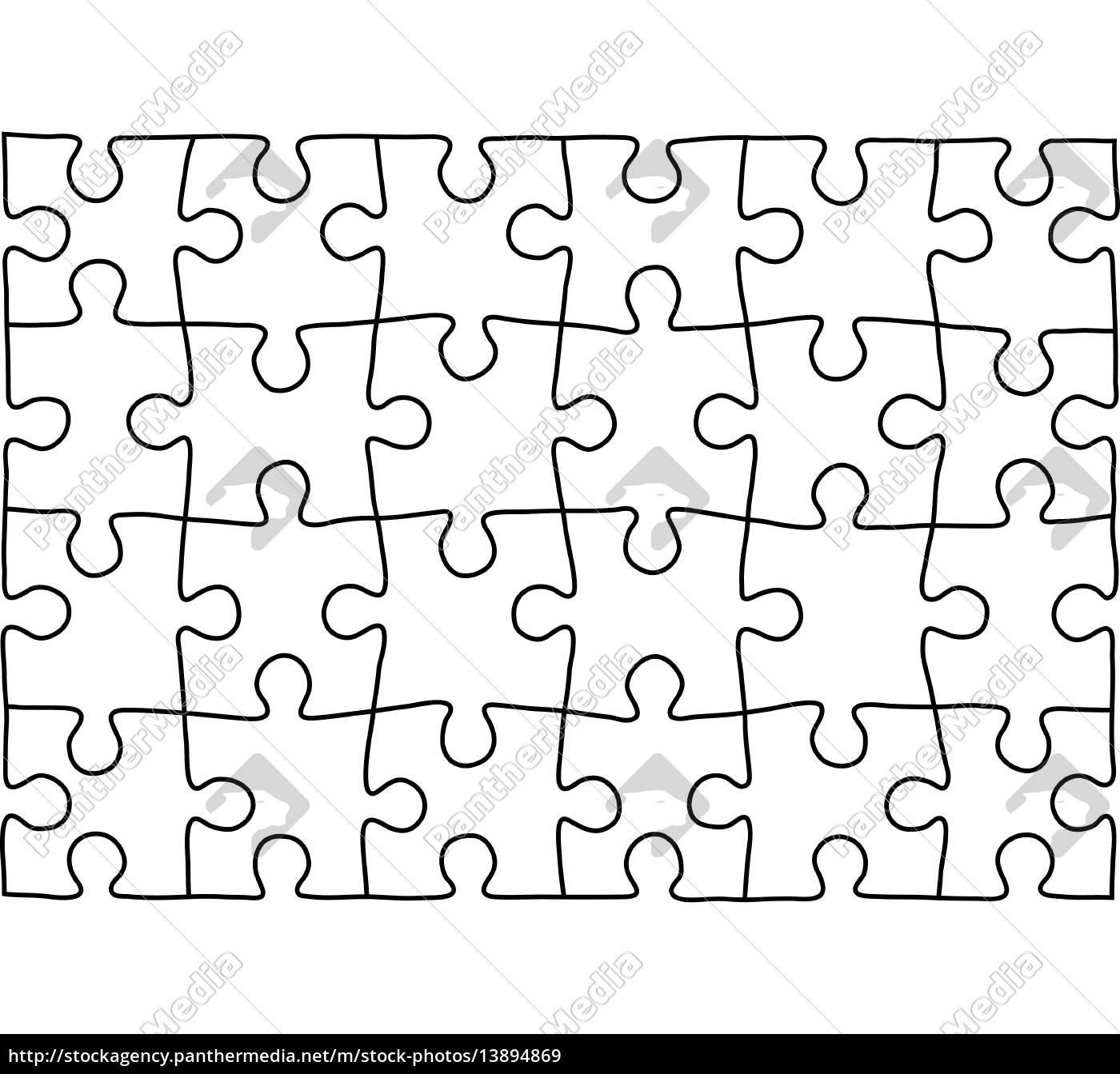 puzzle vorlage. hintergrund für ihre - Stockfoto - #13894869 ...