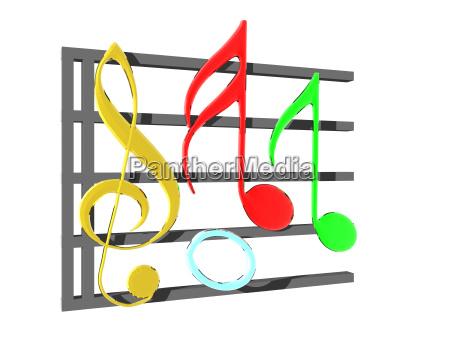musiknoten freigestellt
