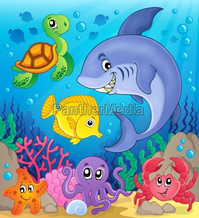 underwater ocean fauna theme 6