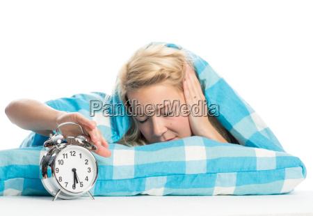 woman in bed has no desire