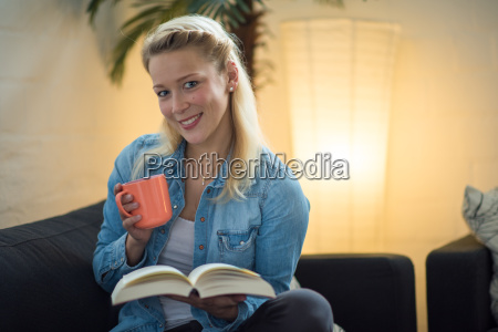 feierabend with coffee and book