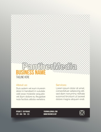 business poster template simple clean