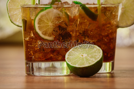 drink concept cocktail with cola
