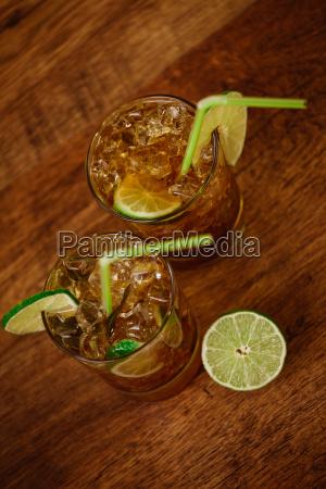 konzept, trinken, -, cocktail, mit, cola - 13926091