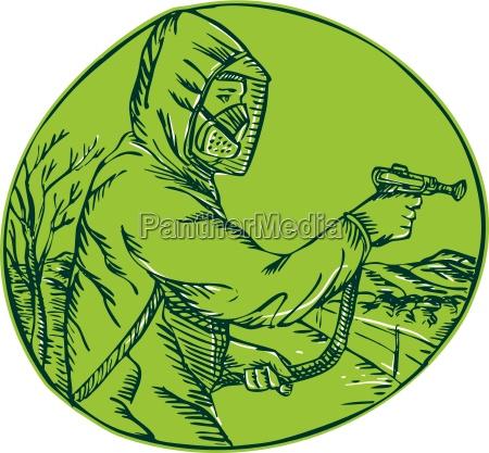 herbizid pestizidkontrolle exterminator spruehen aetzen