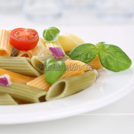 italian cuisine colorful penne rigate pasta