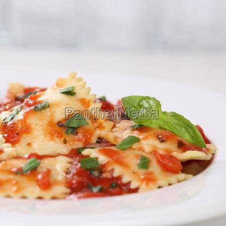 italian food pasta with tomato sauce