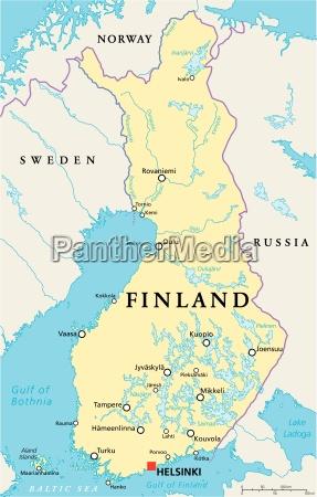 finnland politische karte