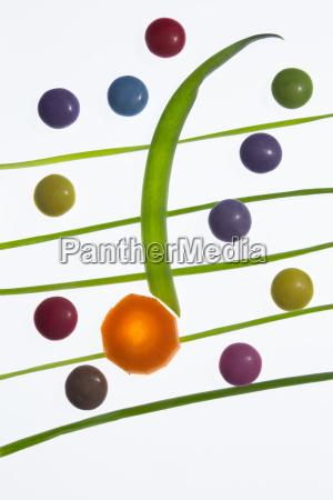 bunte und gesunde musiknoten