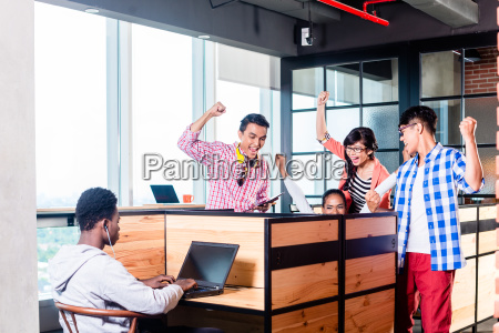 start up business people in cubicles