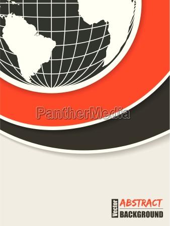 corporate brochure design with globe