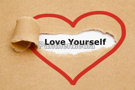 liebe dich selbst heftiges papier
