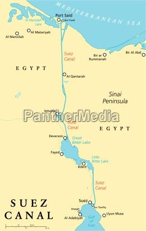 suezkanal political map