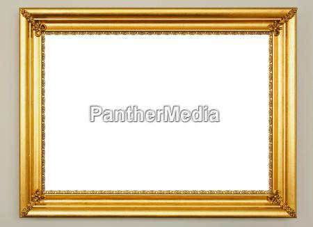 kunst golden bilderrahmen goldgelb goldfarben einzelbild