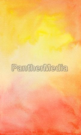 aquarell gelb orange rot