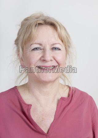 older woman studio portrait