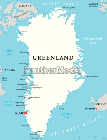 groenland political map