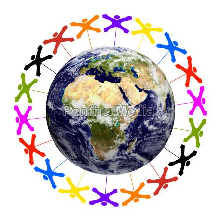 friends worldwide earth texture by