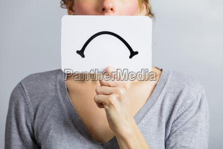 unhappy portraet von jemandem eine traurige