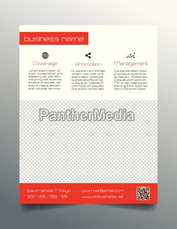 business flyer design simple red
