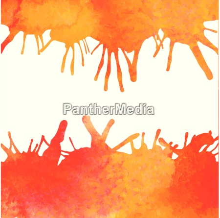 orange watercolor paint vector background with