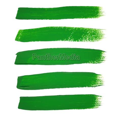 gruene tinte vektor pinselstriche