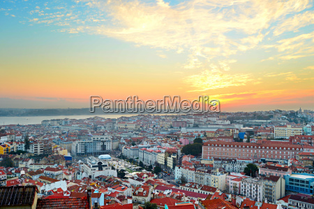 lisbon sunset view portugal
