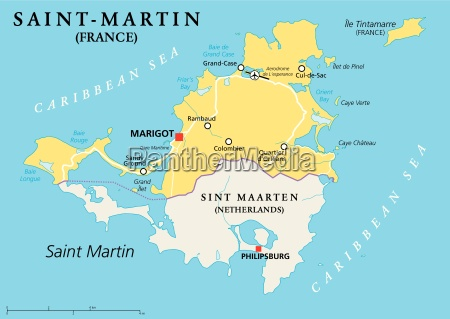 saint martin country political map
