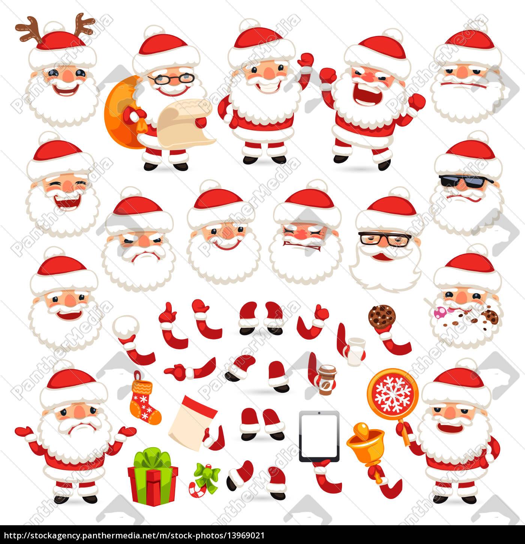 Lizenzfreies Bild 13969021 Reihe Von Comic Weihnachtsmann Für Ihre Weihnachts Design Oder