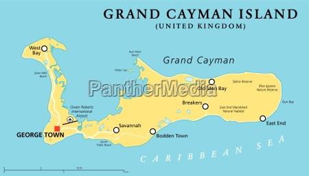 grand cayman island politische karte