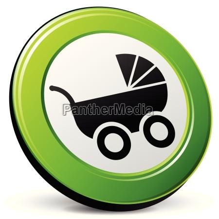 kinderwagen 3d symbol
